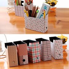 Hot Cute Makeup Cosmetic Stationery DIY Paper Board Storage Desk Organizer Box