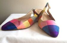 J CREW Lucie Printed Fabric Slingback Flats Size 6 Multi #a0612 $248 SOLD OUT