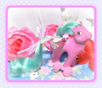 ❤️My Little Pony MLP G1 VTG 1987 FLUTTER PONY Cloud Puff with Custom Wings❤️