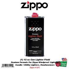 Zippo 12oz Can Fuel Fluid, For:All Zippo Pocket Lighters, Premium Formula #12FC