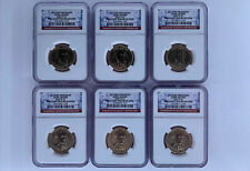2007 Presidential John Adams 6 Coin Set NGC BU