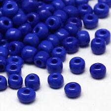 Perles de Rocaille Rondes 2mm (12/0) en Verre Opaque Bleu Lot de 20g