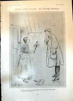 Antique Print Mary Ann Again George Belcher Mrs Smudge Museum Skeleton 1906