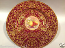 Royal Worcester Hand Painted Fruit Plate Signed P Stanley