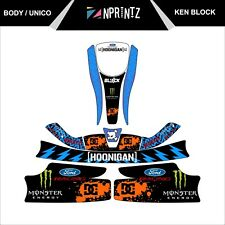 UNICO KEN BLOCK STYLE FULL KART STICKER KIT - KARTING - OTK - EVK-CADET-