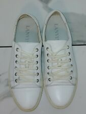 Lanvin Sneakers All White Soft Leather Mens 10.5