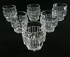 Rare Antique BACCARAT Flawless Crystal 6 x Whiskey Tumbler w/ Cut Panels