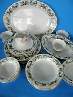 VINTAGE KYOTO CHINA LOT MADE IN OCCUPIED JAPAN REGALIA DINNERWARE SET FOR 4