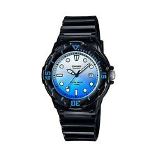 LRW-200H-2E Blue Black Casio Ladies Watches 100M Date Display Analog Brand-New
