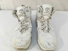 Mens Timberland White Lace Up 10.5 Athletic Basketball Style Waterproof Shoes