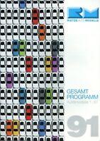 Rietze Automodelle Gesamtprogramm 1991 Prospekt Modellautos 1:87 model cars