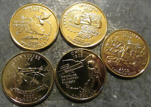 Complete Set 2002-D Gold Plated State Quarters