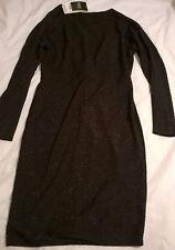 BNWT Next size 10 black sparkle party dress long sleeved