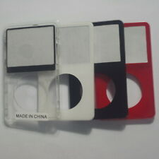 for iPod video Black White Red transparent front cover panel with glass window