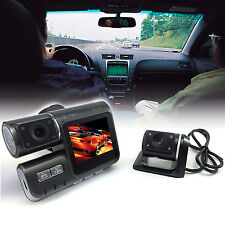 HD Dualkamera Dashcam 2 Linsen Autokamera, Car DVR Blackbox, G-Sensor