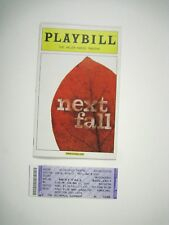 Next Fall Playbill 2010 Helen Hayes Theatre Cotter Smith Dugan Maddie Corman