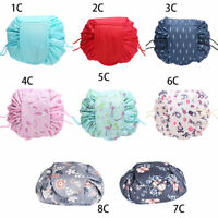 Travel Makeup Cosmetic Toiletry Wash Case Organizer Storage Pouch Drawstring Bag