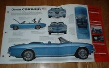 ★★1966 CHEVY CORVAIR CORSA ORIGINAL IMP BROCHURE INFO CONVERTIBLE 66 60 61 62-69