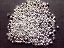 400pz  perline spacer separatori in ottone 2,4mm colore argento