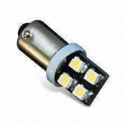 2 ampoule 25mm à 8 led smd 3D blanc xenon en culot rond T4W BA9S plafonnier etc