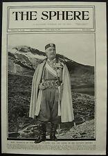 WWI King Nicholas Of Montenegro 1916 1 Page Photo Article