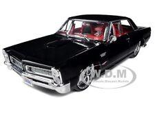 1965 PONTIAC GTO BLACK CUSTOM 1/18 DIECAST CAR MODEL BY MAISTO 31065