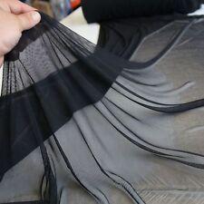 schwarz Netz-Stoff mit Stretch feine zarte transparente Meterware Fliegen-Gitter