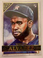2020 Topps Gallery Baseball Rookie Card - Yordan Alvarez RC - Houston Astros