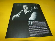 STUART STAPLES - Mini poster Noir & blanc 2 recto verso !!!