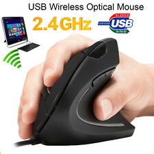 2.4G 1600 DPI Wired Ergonomic Optical USB Vertical Mouse for PC Notebook Mac