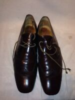Paul Smith Mens Brown Leather Brogue Lace Up Shoes Ref My01