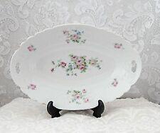 Schwarzenhammer-Bavaria Porcelain Vegetable Bowl, Pink Roses on White, 1910-1923