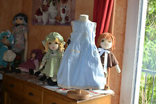 robe tartine et chocolat bleu 2 ans doublee bleu clair poche