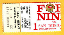 *SUPER RARE 1973 SF 49ERS/CHARGERS FOOTBALL TICKET STUB-CANDLESTICK PARK