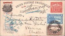PERU, 1898. Post Card  H&G 28, 154-55, Lima - Vienna