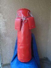 Boxing.kickboxing punching bag w/chain & punching gloves
