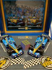 Set 2 Renault F1 Team R25 (Alonso / Fisichella) -2005 Champion (1/43) Minichamps