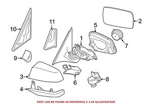 For BMW Genuine Door Mirror Glass Front Right 51167251585
