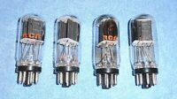 4 RCA 6SN7GTB Vacuum Tubes - 1970's Vintage Audio Twin Triodes