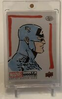 CAPTAIN AMERICA UPPER DECK MARVEL ARTIST OTHELL ART SKETCH AUTOGRAPH CARD 1/1