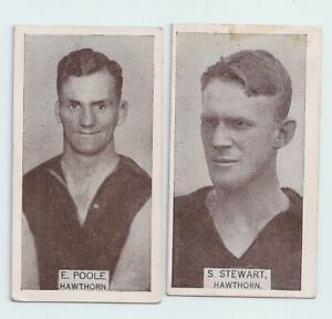 1933 Wills small size cigarette cards Hawthorn lot of Two  very good condition