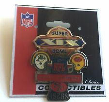 San Francisco 49ers Super Bowl XIX Peter David Pin vs Miami Dolphins  L2