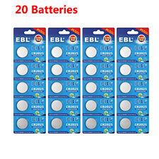20x Ebl Cr2025 Button Coin Cell Lithium Batteries 3V Ecr2025 Dl2025 Expire 2029