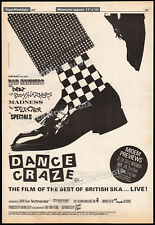 DANCE CRAZE_Best Of British Ska__Orig. 1981 Trade AD_poster__THE SPECIALS_2 Tone