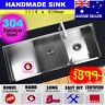 Sink Stainless Steel Double Square Kitchen Undermount Topmount Drainer 1114x450