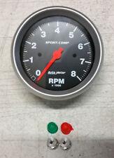 """SALE Auto Meter Sport-Comp In-Dash Electric Tachometer 3 3/8"""" 8000 RPM TACH"""