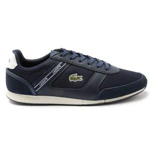 LACOSTE Mens Menerva Sport 120 1 Court Sneakers Navy Blue