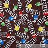 BonEful Fabric FQ Cotton Quilt Brown Chocolate Candy M&M Rainbow Hershey Kid USA