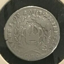 Italy: 1798AP  Ferdinand IV Kingdom of Naples 20 silver coin