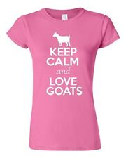 Junior Keep Calm And Love Goats Billy Goat Kid Animal Lover Humor T-Shirt Tee